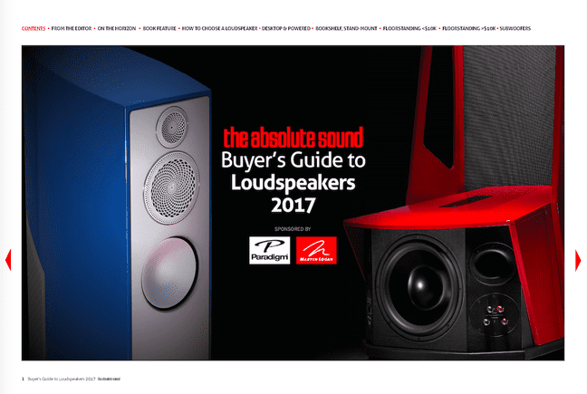 The Absolute Sound's Buyer's Guide to Loudspeakers 2017