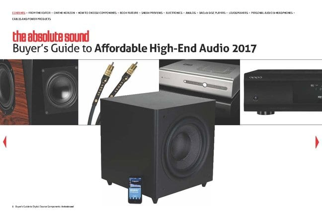 The Absolute Sound's Buyer's Guide to Affordable Audio 2017