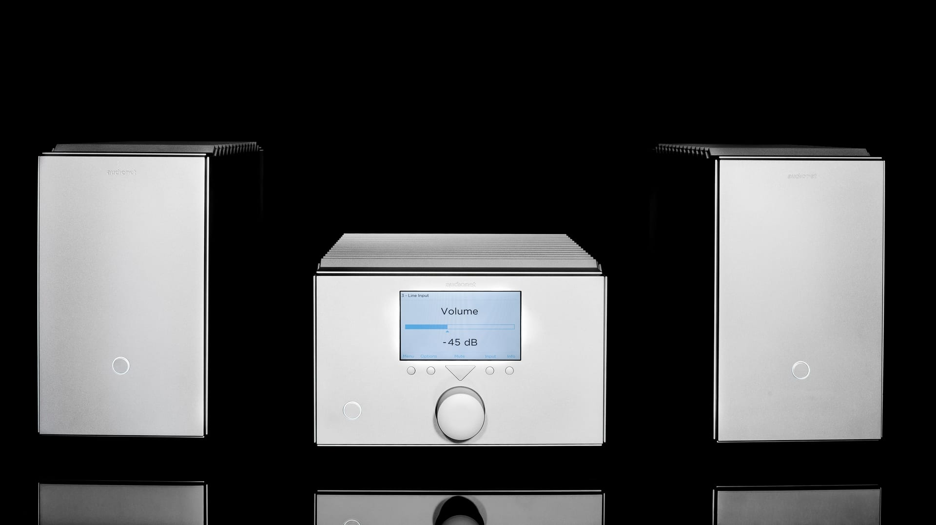 Audionet Stern Linestage and Heisenberg Monoblocks