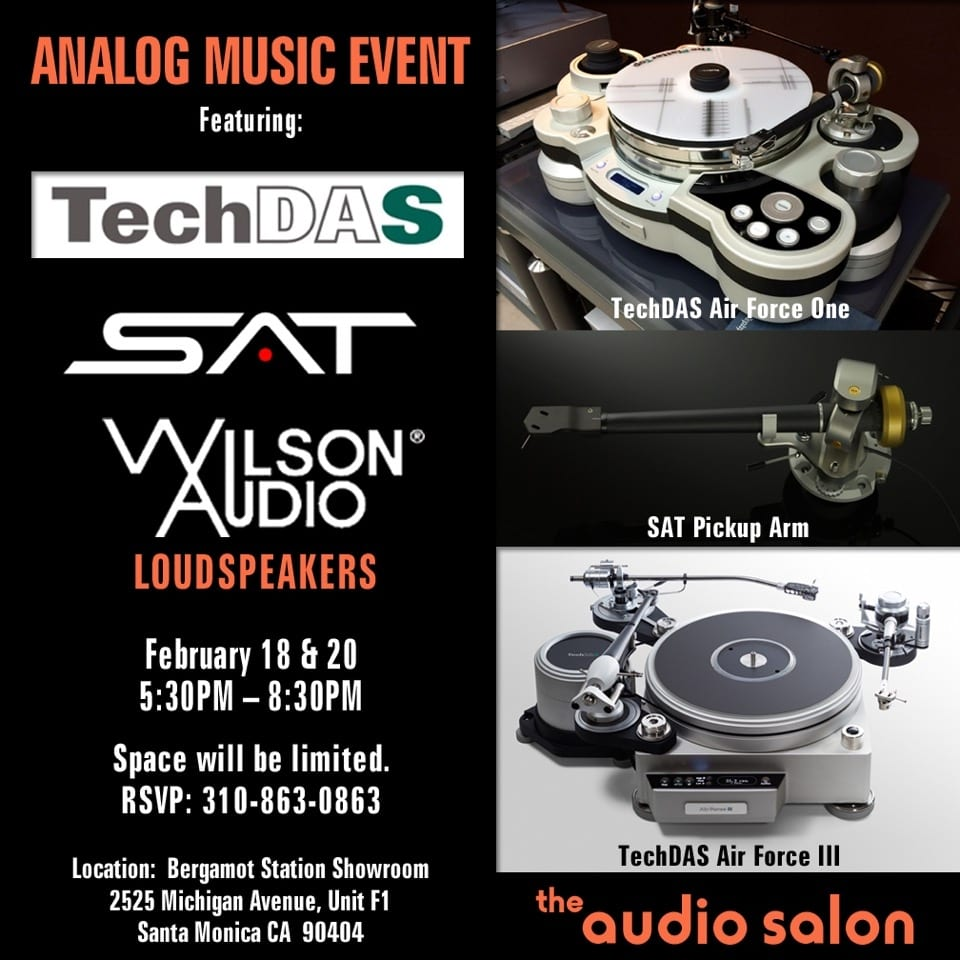 Audio Salon to Host Analog Listening Events