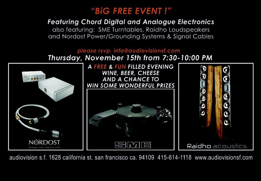 Free Listening Event at AudioVision San Francisco