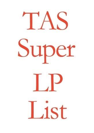 TAS Super LP List 2017