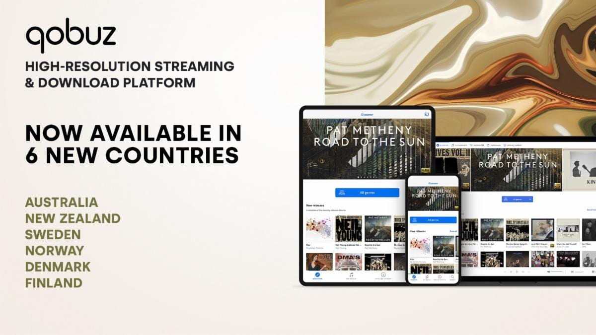 Qobuz Launches High-Resolution Streaming and Download Platform in Australia, New Zealand, and Northern Europe